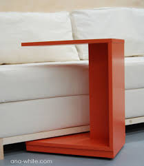 rolling c end table or sofa table ana