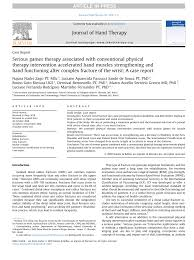 Pdf Serious Games Therapy Associated With Conventional