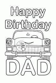 Coloring Happy Birthday Dad Coloring Page