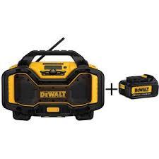 dewalt radio dcr025. 20-volt or 60-volt lithium-ion battery charger and bluetooth radio with dewalt dcr025 e