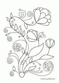 Spring Basket Coloring Page Free Printable Spring Flowers Coloring