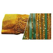 hot room door window beads crystal string curtain beads wall panel fringe divider gold
