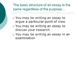 guidelines for writing a basic essay ppt  the basic structure of an essay is the same regardless of the purpose