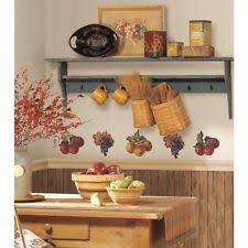apple kitchen decor. fruit harvest wall stickers 26 colorful decals apples \u0026 grapes kitchen decor new apple s
