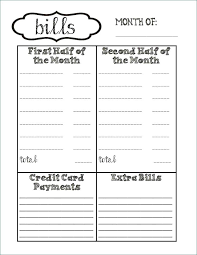 Organizer Planner Template Free Monthly Bill Best Of Party