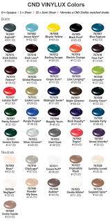 Cnd Vinylux Color Chart Esthers Nail Corner