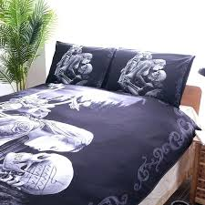 skull bedding black skull bedding set style bed queen king double duvet cover sets queen canada