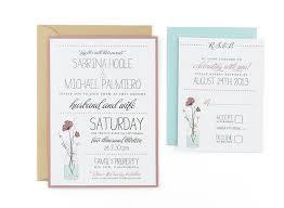 Diy Invitation Template Jar Of Flowers Free Wedding Invitation Template