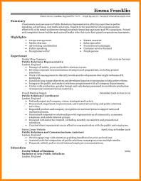 15 Pr Resume Examples Emails Sample