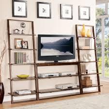 Bookshelf, Amazing Ikea Leaning Shelf Walmart Bookshelves Brown Leaning  Shelf With Tv And Books And