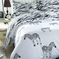zebra bedding set cartoon black white duvet cover bed single double queen king size kids purple