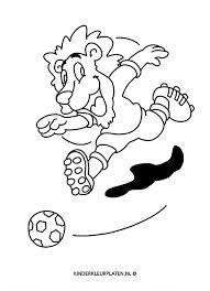 Kleurplaat Nederlands Elftal Oranje Leeuw Sport