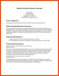 Medical Assistant Example Resume Certified Medical Assistant Resume Program Format Examples With 28