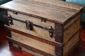 Steamer Trunk Nightstand Bedside Chest Archives 100 Make An Original Lamp Trunk  End Table