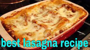 Classic Lasagne Best Lasagna Recipe Classic Lasagna Youtube