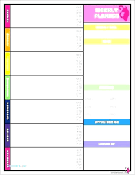 Google Weekly Planner Template Greenfeathers Co