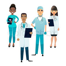 surgeon nurse doctors and nurses team cartoon medical staff medical team concept
