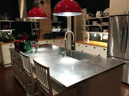 stainless steel with sink island a ikea countertop does have countertops