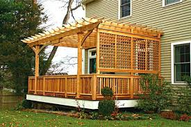pergola attached to house pergolas traditional deck plans kits r27