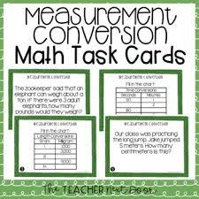 5th Grade Measurement Conversion Task Cards Measurement Conversion Center