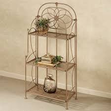 wrought iron indoor furniture. Lexington Wrought Iron Etagere Satin Gold Three Tier Indoor Furniture N