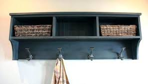Entryway Shelf And Coat Rack Shelves Angled Walls Maple Wall Entryway Shelf And Coat Rack With 75