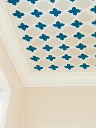 stencil a fun pattern on your ceiling