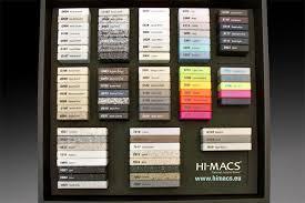 Hi Macs Color Chart Surface Laminations