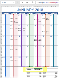 How To Use Excel For A Budget Monthly Budget Calendar Template