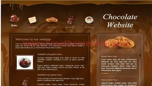 Free Flash Web Template Free Flash Chocolate Store Website Template Freethemes4all