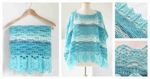diy crochet calming waves poncho