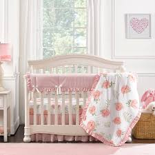 pink peony perless crib bedding 4 pc quilt