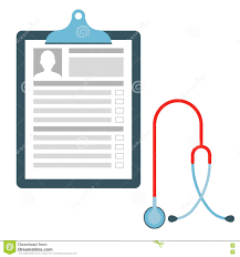 Paper Medical Chart Template Medical Chart With Stethoscope Stock Vector Illustration