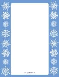 This Blue Margins Snowflake Border Has Pristine White