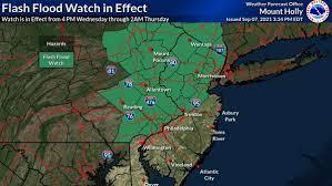 NJ weather: Flash flood watch issued ...