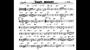 Round Midnight Chart Round Midnight Play Along Backing Track C Key Score Violin Guitar Piano