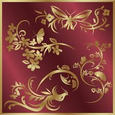 Small Picture Bird and butterfly and ladybug with flower sticker vector Free