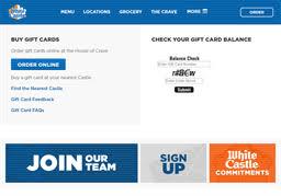 White Castle   Gift Card Balance Check   Balance Enquiry, Links ...