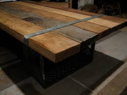 wood and metal coffee table large