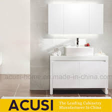 high end lacquer plwood mdf bathroom cabinet with single basin acs1 l59