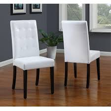 tufted white parsons chair set of 2 homepop linen tan nailhead parsons chairs