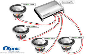 channel amp wiring diagram wiring diagrams and schematics subwoofer wiring diagrams wiring 2 dvc 4 ohm