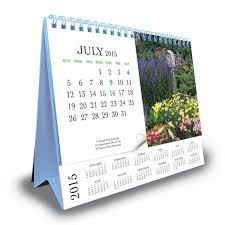 2016 table calendar printing with notepad