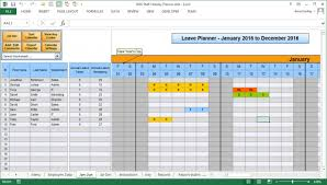Employee Absence Schedule Excel Ate Vacation Time Tracker