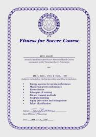 diploma  n fitness for football diploma