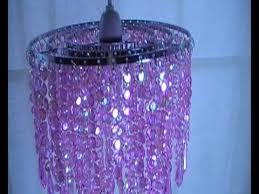 pink beaded chandelier