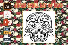 My resource library is open to anyone and is free! Sugar Skull Day Of The Dead Coloring V24 Graphic By Tatus Brinal Creative Fabrica