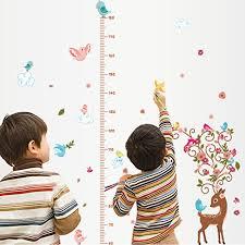 Ducklingup Baby Boys Girls Height Measurement Growth Chart Giraffe  Removable Vinyl Wall Sticker Decal Mural DIY