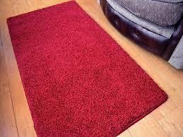 dark ruby red thick machine washable super soft plain floor rugs mats rug