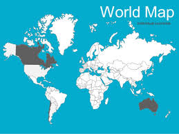 Editable World Map For Powerpoint World Maps Vector Editable Updated 2017